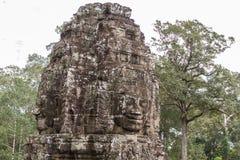 bayon ναός της Καμπότζης riep πλησίον siem ο αρχαίος ναός πετρών Το Bayon είναι ένα από το UNES Στοκ Φωτογραφία