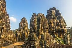 bayon Камбоджа смотрит на висок стоковая фотография rf