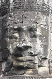 Bayon. Faces at Bayon Temple in Siem Reap near Angkor Wat stock image
