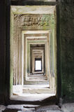 Bayon. Walkway of the famous bayon angkor wat style temple bulit in the 12th century royalty free stock photo