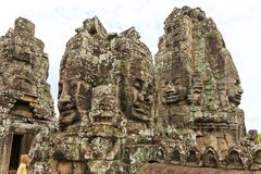 The Bayon, Also Known As Prasat Bayon, One of The Well-Known Temple in Cambodia royalty free stock images