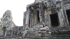 Bayon - ancient Khmer temple in Angkor Thom temple complex in Cambodia stock video