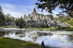 Bayon, Angkor, Καμπότζη. Περιοχή παγκόσμιων κληρονομιών της ΟΥΝΕΣΚΟ. Στοκ Εικόνες