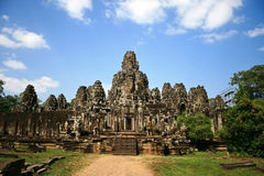 The Bayon,Angkor,Cambodia. Image of UNESCO's World Heritage Site of Bayon, which is part of the larger temple complex of Angkor Thom, located at Siem Reap Stock Image