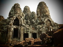 Bayon Angkor Thom Stockbilder
