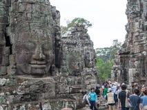 Bayon, Angkor Thom in Kambodscha Stockbilder
