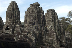 Bayon. Angkor Wat. Το Siem συγκεντρώνει. Καμπότζη Στοκ Εικόνα
