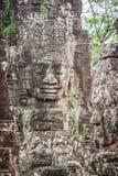 Τα πρόσωπα του αρχαίου ναού Bayon σε Angkor Wat, Siem συγκεντρώνουν, Καμπότζη Στοκ Εικόνες
