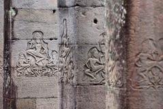 bayon apsara высекая висок Стоковое Фото