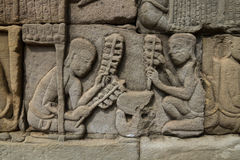Bayon bas relief Royalty Free Stock Image