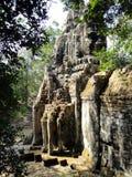 Bayon brama przy Angkor Fotografia Royalty Free