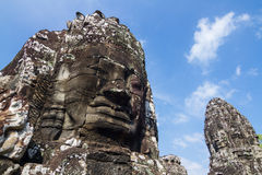 bayon cambodia nära riepsiemtempelet Arkivbilder