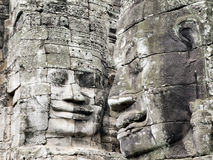 bayon Cambodia twarze target396_0_ świątynię obraz stock