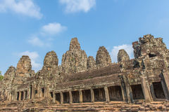 Bayon Castle or Prasat Bayon Khmer temple at Angkor in siem reap Royalty Free Stock Photography
