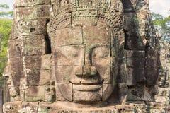 Bayon Castle or Prasat Bayon Khmer temple at Angkor in siem reap Stock Photos