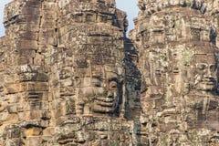 Bayon Castle or Prasat Bayon Khmer temple at Angkor in siem reap Royalty Free Stock Images