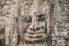 Bayon Castle or Prasat Bayon Khmer temple at Angkor in siem reap Stock Photo