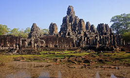 Bayon in center Angkor Wat - Cambodia Royalty Free Stock Photos