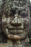 Stone face of Bayon temple, Siemreap, Cambodia. Bayon constructed in the 12th and 13th century by Khmer king Jayavarman VII is a Buddhist temple in Angkor Thom royalty free stock photos