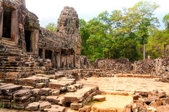 Bayon courtyard Royalty Free Stock Photo