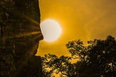 Bayon, de tempel van Angkor Wat Siem oogst, de glimlach van angkor stock foto's