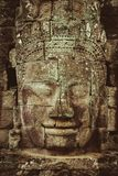 Bayon en khmertempel på Angkor i Cambodja Royaltyfria Bilder