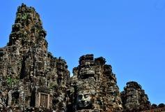 Bayon face in angkor Royalty Free Stock Image