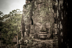 Bayon face of Angkor thom, Seam Reap, Cambodia. Stock Photos