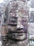Bayon face Angkor Wat. Smiling Bayon face at Khmer temple Angkor Wat Stock Photos