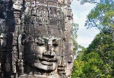 Bayon Face at Bayon temple Stock Images