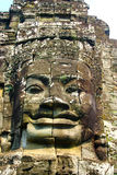 Bayon face close-up. Face of king stone carved at temple bayon in angkor wat Cambodia Stock Photos
