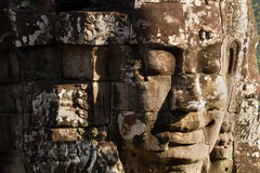 The Bayon Face. Locate on Siem Reab , Cambodia Stock Images