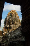 The Bayon Face. Locate on Siem Reab , Cambodia Stock Photo