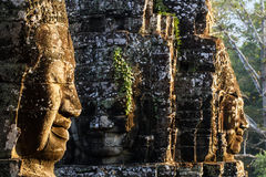 The Bayon Face. Locate on Siem Reab , Cambodia Royalty Free Stock Photo