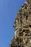 The Bayon Face, Temple of Angkor Thom. Locate on Siem Reab , Cambodia Stock Image