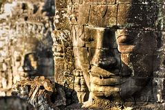 Bayon Faces. Royalty Free Stock Photos