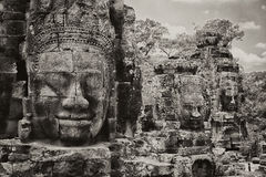 Bayon & Faces Stock Image