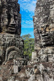 Bayon faces in Angkor Thom Siem Reap Royalty Free Stock Image