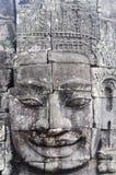 Bayon faces in Angkor Thom Siem Reap Stock Photos