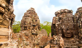 Bayon faces Royalty Free Stock Photos