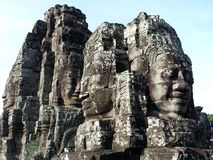 Bayon. The four-faced statue in Bayon royalty free stock image