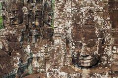 Bayon framsidor, Angkor Thom, Cambodja Royaltyfri Fotografi
