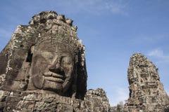 Bayon hace frente a Angkor Thom fotografía de archivo libre de regalías