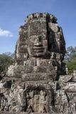 Bayon hace frente a Angkor Thom Foto de archivo libre de regalías