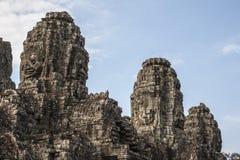 Bayon hace frente a Angkor Thom imágenes de archivo libres de regalías