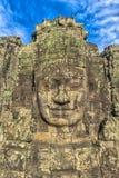 bayon kamienia twarze ludzie, siem przeprowadzają żniwa, Kambodża, byli inscri Zdjęcie Stock