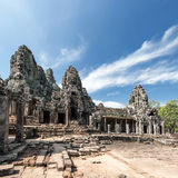 Bayon khmer temple on Angkor Wat historical place in Cambodia Royalty Free Stock Image