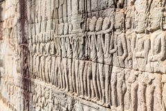 Bayon mural Stock Photo