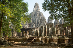 Bayon. North-west view from the jungle Stock Image