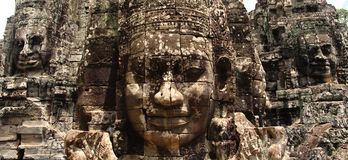 Bayon Panoramic Royalty Free Stock Images